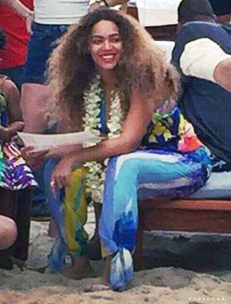Beyoncé, Jay Z, and Blue Ivy went all the way to Phuket, Thailand, for the holidays. Over the weekend, the family was spotted on the beach, where Beyoncé enjoyed her time in the sand, got her face painted, and even rode an elephant. It seems Bey and Jay have been all over the world to wrap up 2014 — just last week, the two stepped out together in NYC, and not long after that, Beyoncé shared pictures from their trip to Iceland, where they celebrated Jay's Dec. 4 birthday. Keep reading to see the pictures, and then get an extra dose of Beyoncé nostalgia with Solange Knowles's adorable holiday throwback photos.