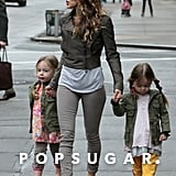 SJP Steps Out With the Twins as The Carrie Diaries Premieres