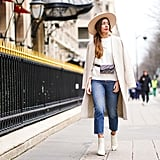 White Boots Once Again, With an All-Over Neutral Palette