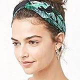 Tropical Leaf Print Headwrap