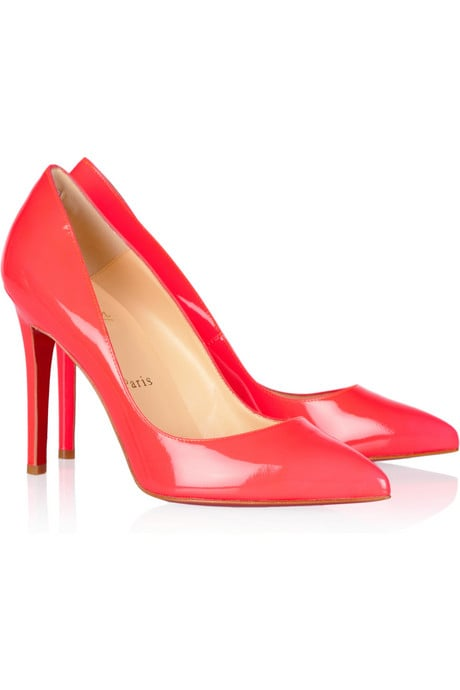 We love the splash of cherry-red patent to turn up the color play with a great pencil skirt at the office.  Christian Louboutin Pigalle 100 Patent-Leather Pumps ($625)