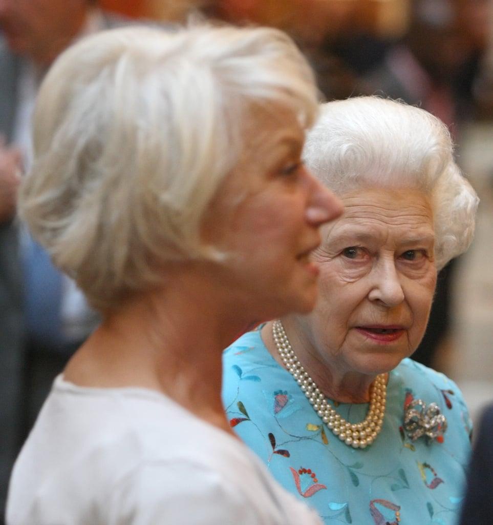 The Queen and Dame Helen Mirren