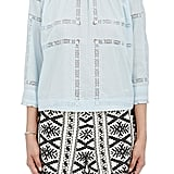 Sea Women's Lace-Inset High-Neck Top-Blue ($320)