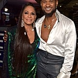 Sheila E. and Usher at the 2020 Grammys