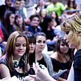Jennifer Lawrence signed autographs for fans.