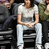 Kendall Jenner's Adidas Sneakers at Basketball Game