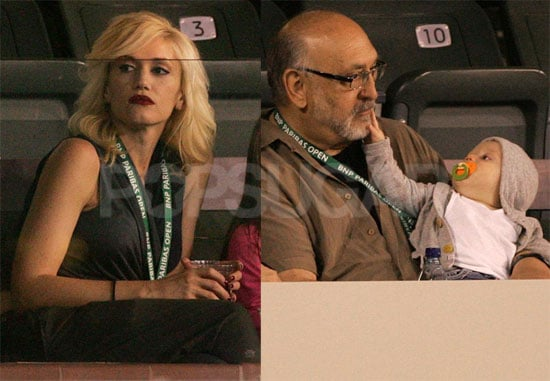 Photos of Gwen Stefani, Her Parents, and Zuma Rossdale Watching Roger Federer Play Tennis