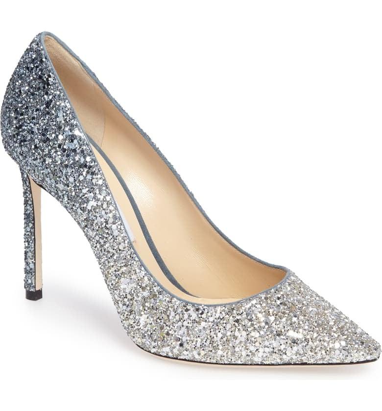 Cinderella: Jimmy Choo Romy Glitter Pumps