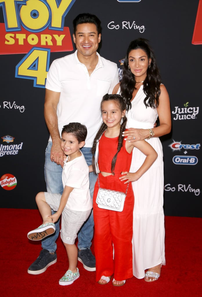 Mario Lopez, Courtney Laine Mazza, and Their 2 Kids at the Toy Story 4 Premiere