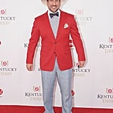 Joey Fatone accessorized his dapper look with a straw hat in 2012.