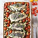 Sheet-Pan Chicken Stuffed With Goat Cheese and Pesto
