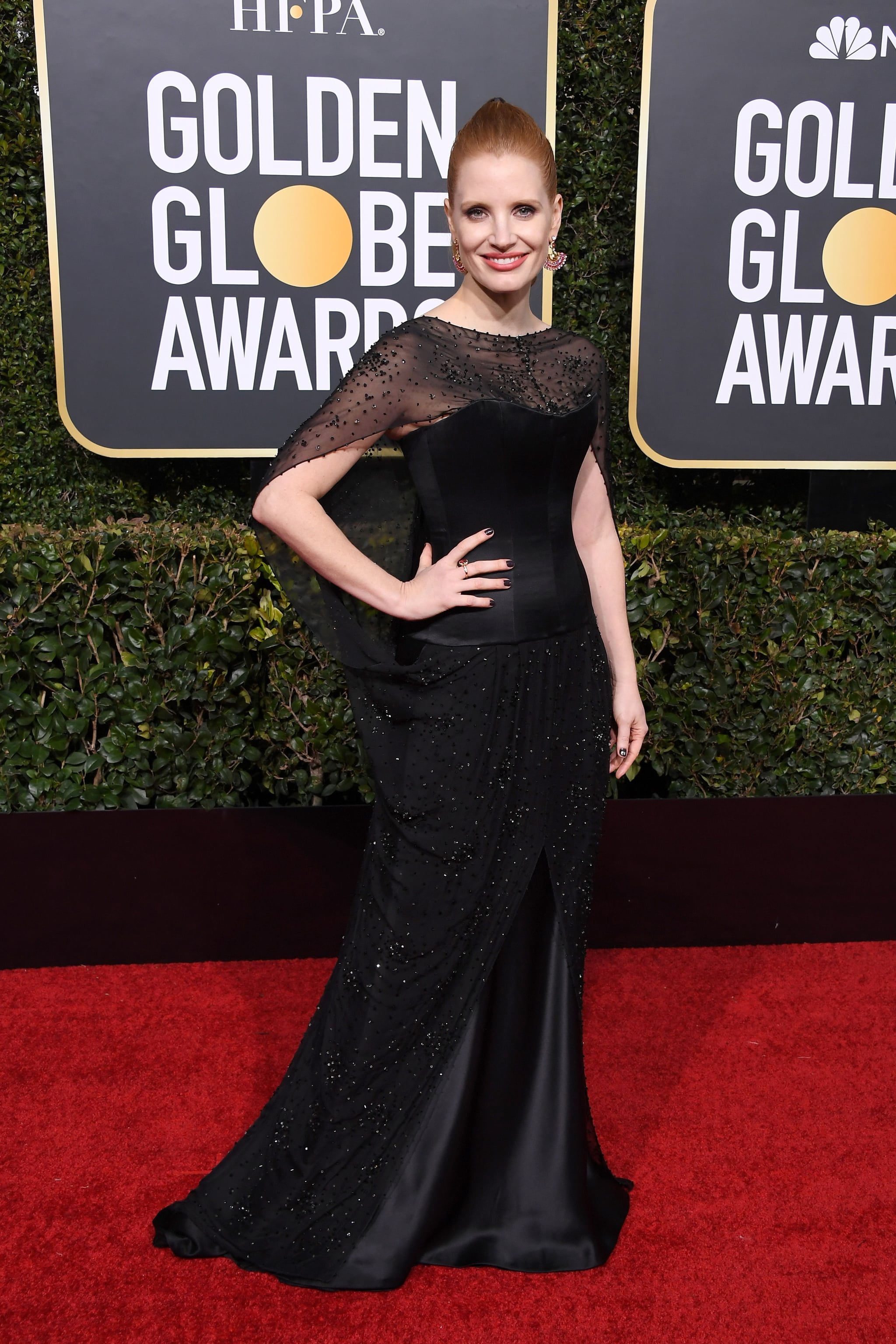 BEVERLY HILLS, CA - JANUARY 06:  Jessica Chastain attends the 76th Annual Golden Globe Awards at The Beverly Hilton Hotel on January 6, 2019 in Beverly Hills, California.  (Photo by Steve Granitz/WireImage)