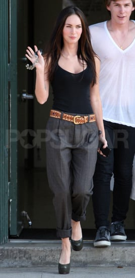Pictures of Megan Fox Leaving a Meeting With a Friend in LA