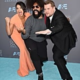 Pictured: James Corden, Gina Rodriguez, and Reggie Watts