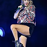 Taylor Swift's Silver Combat Boots
