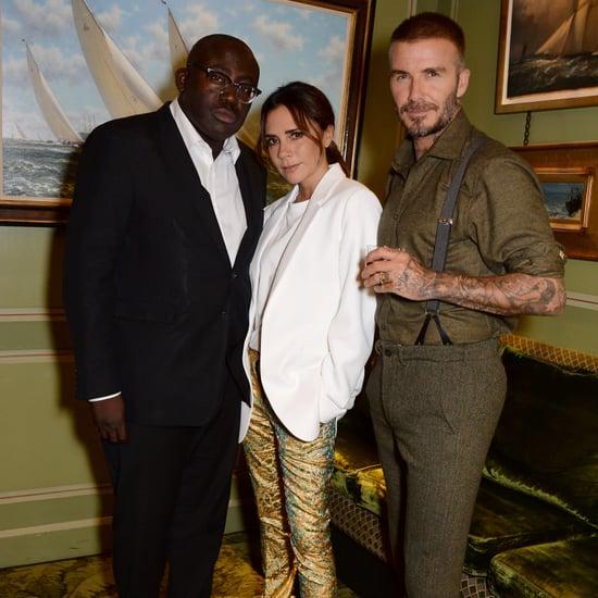 Victoria Beckham's Gold Pants September 2018