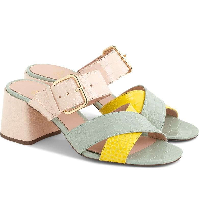 89d218296b00f J.Crew Penny Colorblock Faux Croc Slide Sandals
