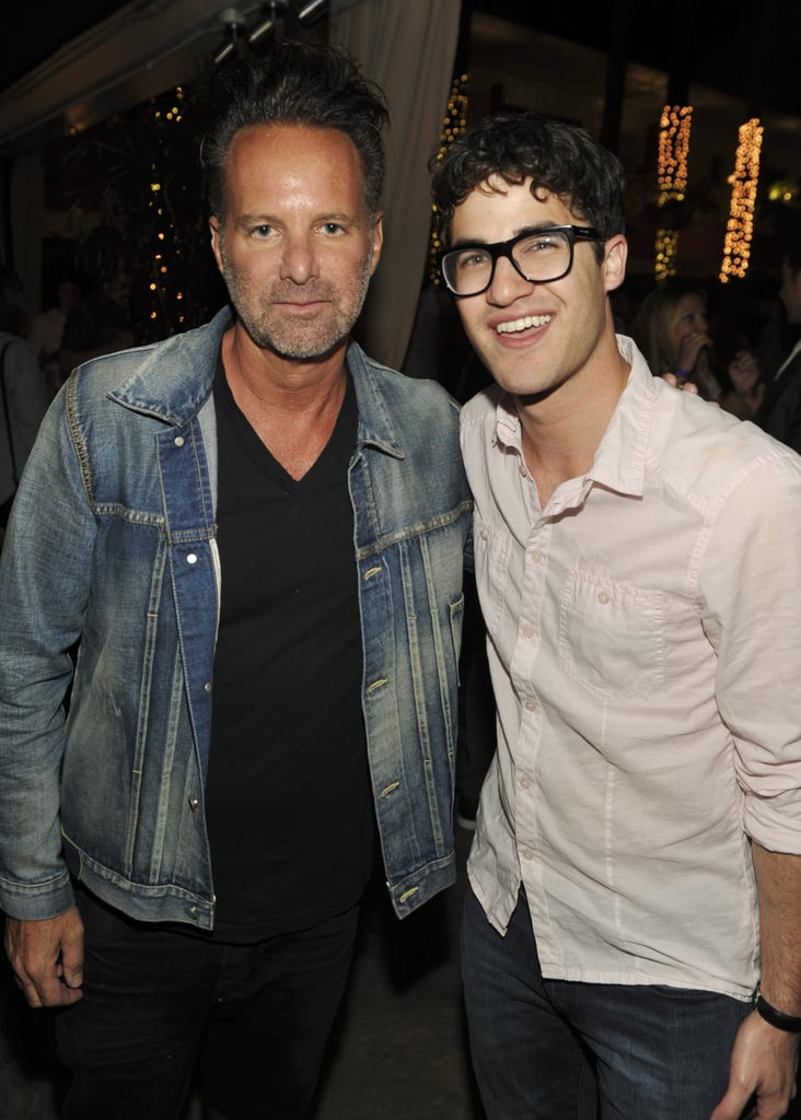 Darren Criss and Nylon magazine's editor in chief, Marvin Scott Jarrett, posed together inside the party.