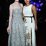 Michelle Dockery and Rashida Jones mingled inside.