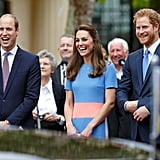 In June, Prince Harry, Prince William, and Kate Middleton beamed with pride at The Patron's Lunch for the queen's 90th birthday in London.