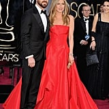 Jennifer Aniston had Justin Theroux by her side for the Oscars.