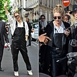 Celine's Gigi Hadid Leather Overalls Moment