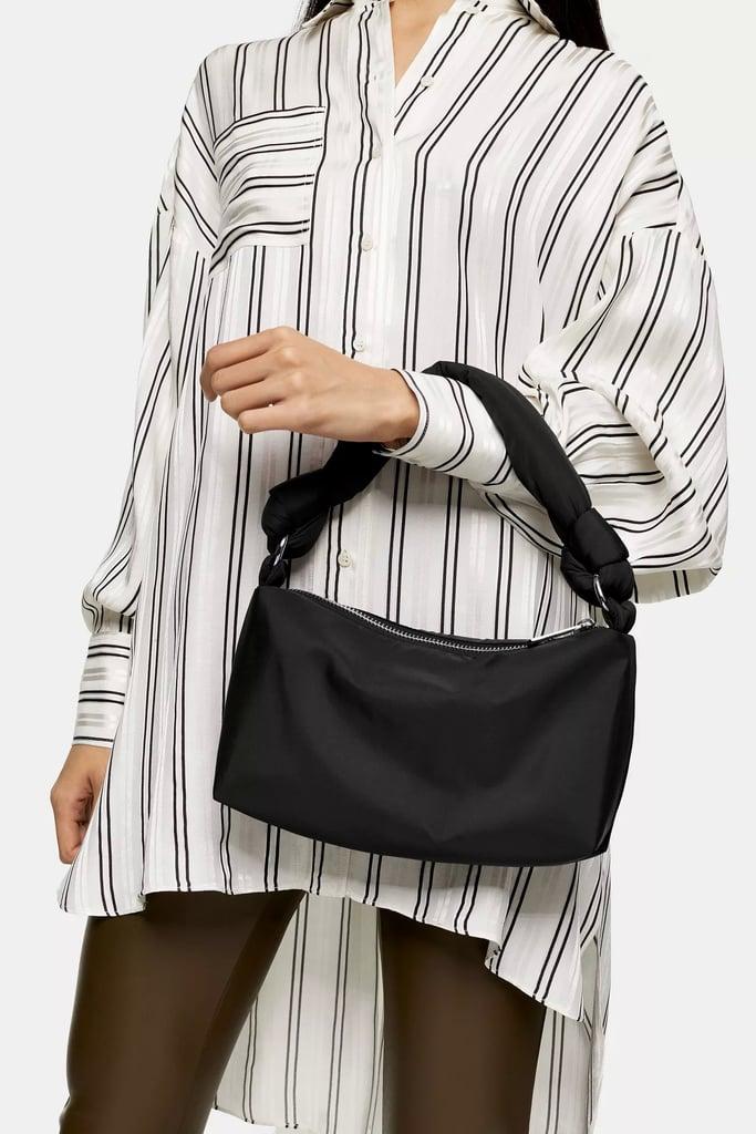 Topshop Black Knot Nylon Shoulder Bag
