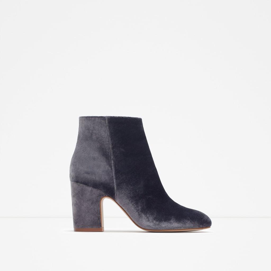 Zara Velvet Boots ($100)