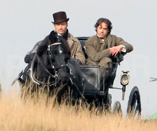 Slide Picture of Jude Law and Robert Downey Jr. on the Set of Sherlock Holmes 2