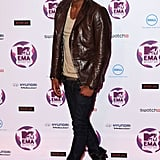 Jason Derulo looked cool in a leather jacket.