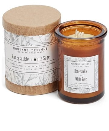 Honeysuckle and White Sage Candle ($24)