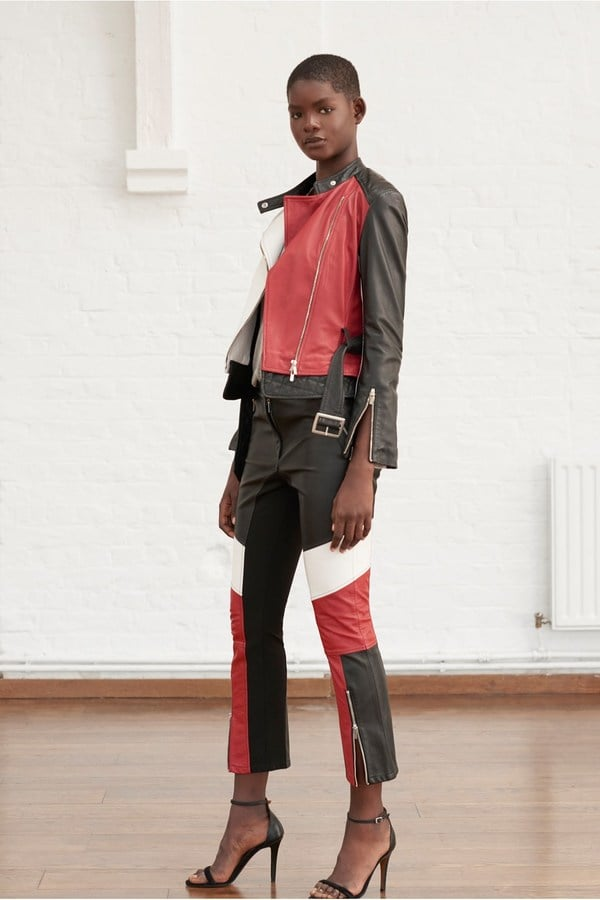 French Connection Evia Leather Biker Trousers