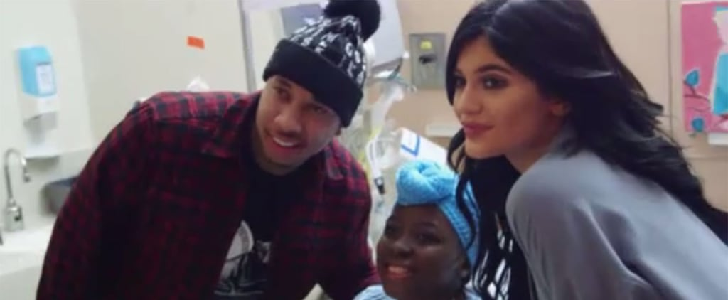Kylie Jenner and Tyga Visit Children's Hospital Video