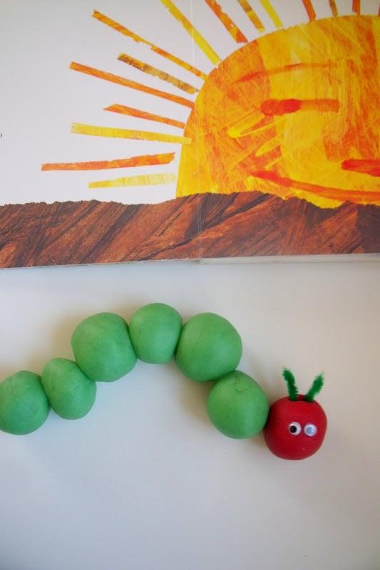 Play-Dough Caterpillar