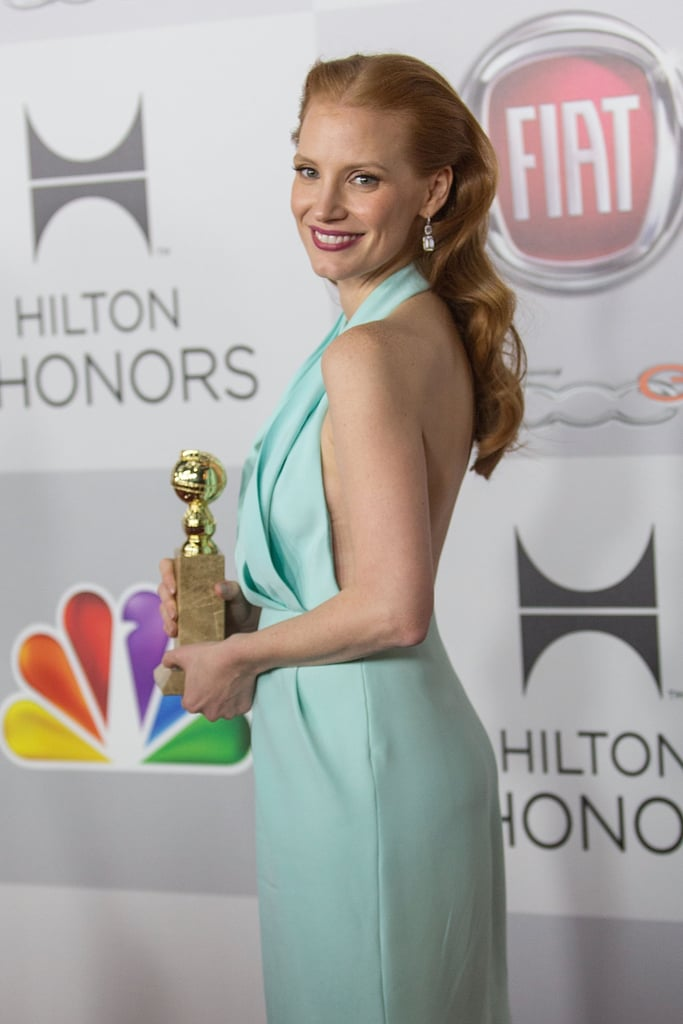 Jessica Chastain won best actress in a motion picture, drama.