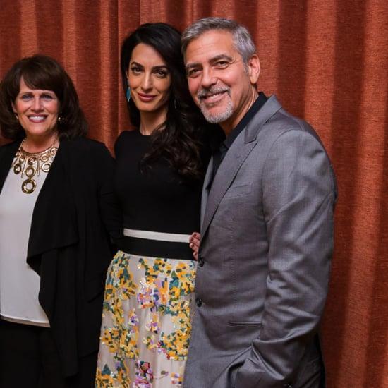 Amal Clooney's Designer Dress at Hillary Clinton Fundraiser