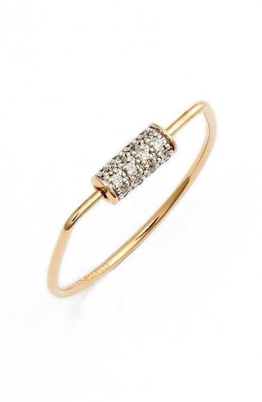 Ginette NY Mini Straw Diamond Ring ($765)
