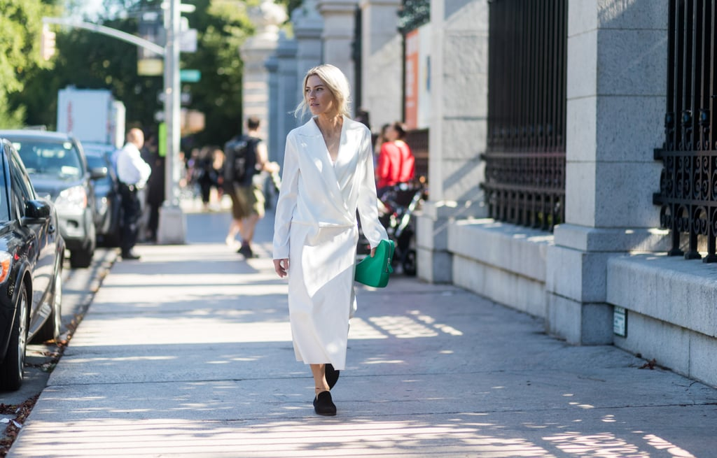 But Perhaps the Best Way to Wear It Is With a Simple Dress —So It Stands Out