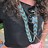 The chevron stripe gets an accessories play with this turquoise-and-gold beaded Lulu's necklace.