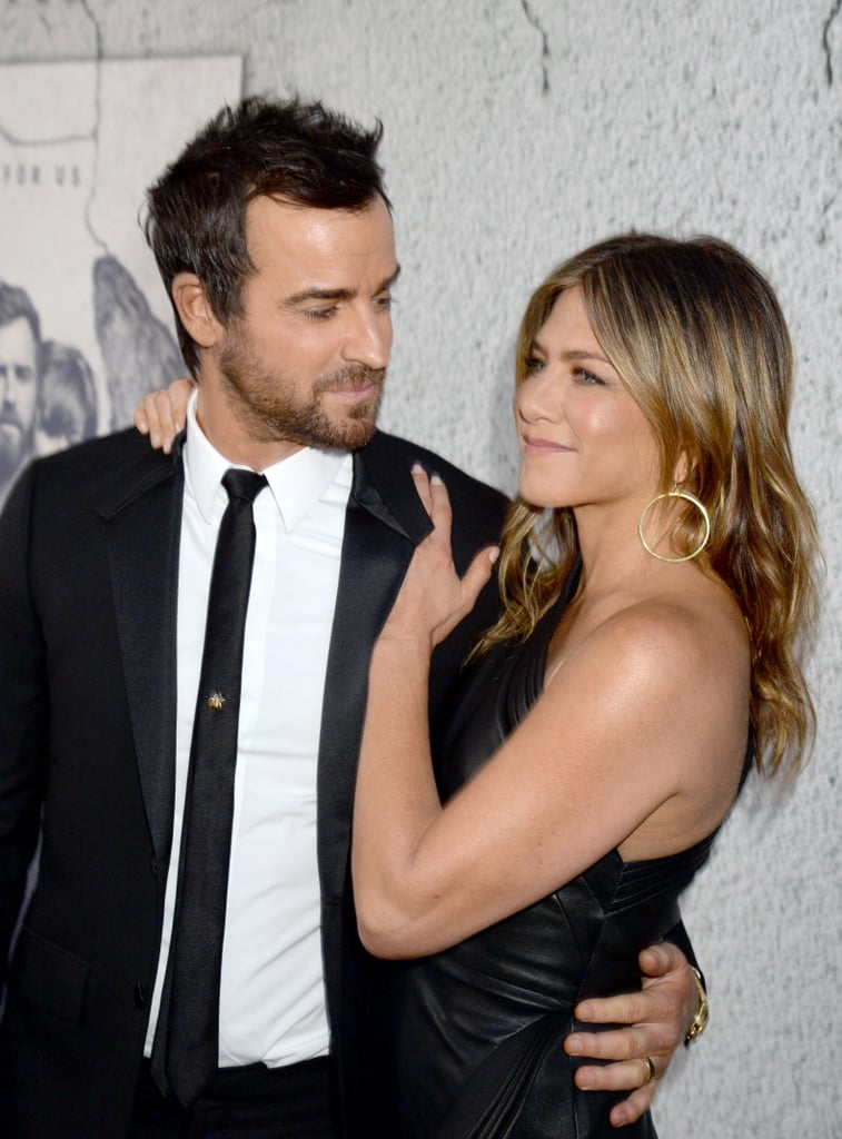 """Jennifer Aniston and Justin Theroux made a striking pair when they attended HBO's season three premiere of The Leftovers in LA on Tuesday night. The couple, who recently rang in Jennifer's 48th birthday in Mexico, held hands and flashed sweet smiles as they walked down the red carpet in their matching black ensembles. Justin's show returns to HBO on April 16, though for some, it's bittersweet as it is also the final season. The third season finds the Garvey family relocating again, this time to Australia, but some of it will also take place in Texas.       Related:                                                                                                           The Way They Were: A Look Back at Jennifer Aniston and Justin Theroux's Sweetest Moments               Just last week, Justin attended CinemaCon in Las Vegas, where he not only promoted his latest project, The Lego Ninjago Movie, but also dished on Jennifer's special birthday celebration in Cabo. """"We do special things. I did a little night for her birthday where we went to a special dinner and had a piñata,"""" he revealed."""