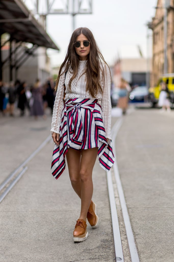 Ground Feminine Pieces With Chunky Shoes