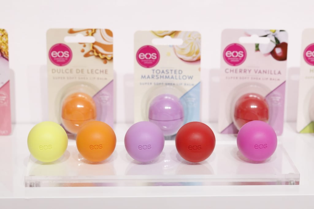 The Eos Lip Balms Displayed Inside The KEOSK Pop-Up Store in London