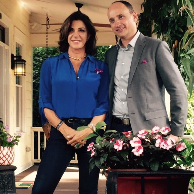 Hilary Farr with her co-host David Visentin