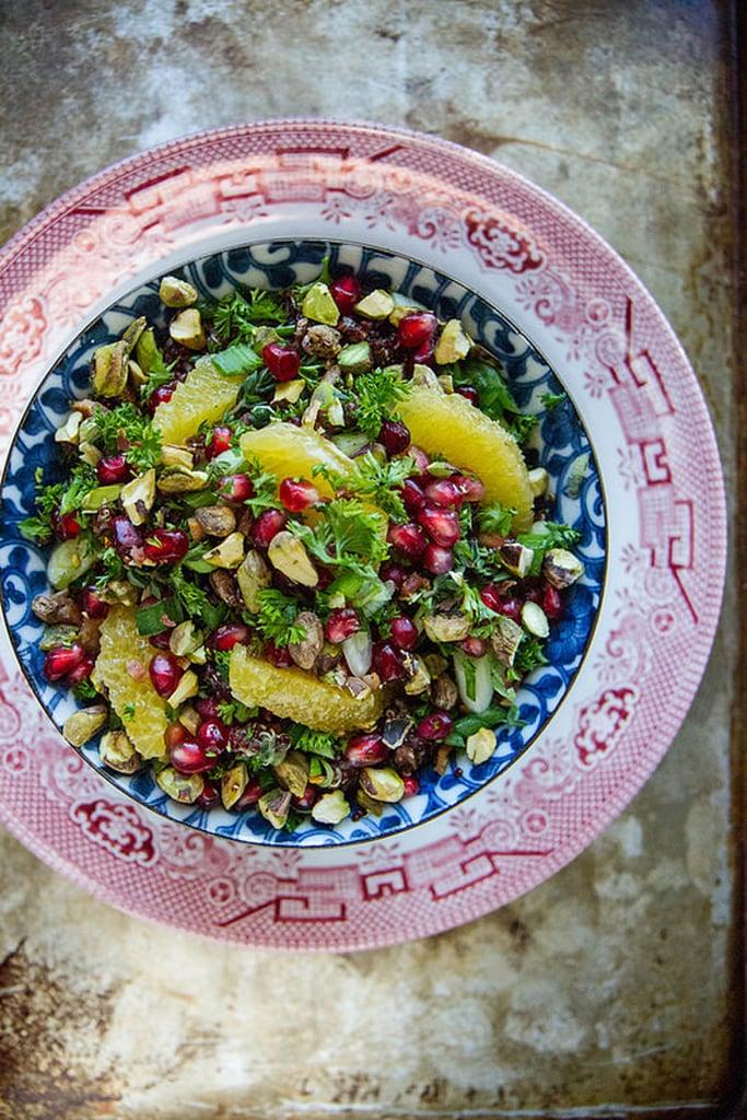 Quinoa Salad With Pistachios, Pomegranates, and Bacon