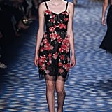 She plucked the floral dress straight from the Marchesa Spring 2017 catwalk.