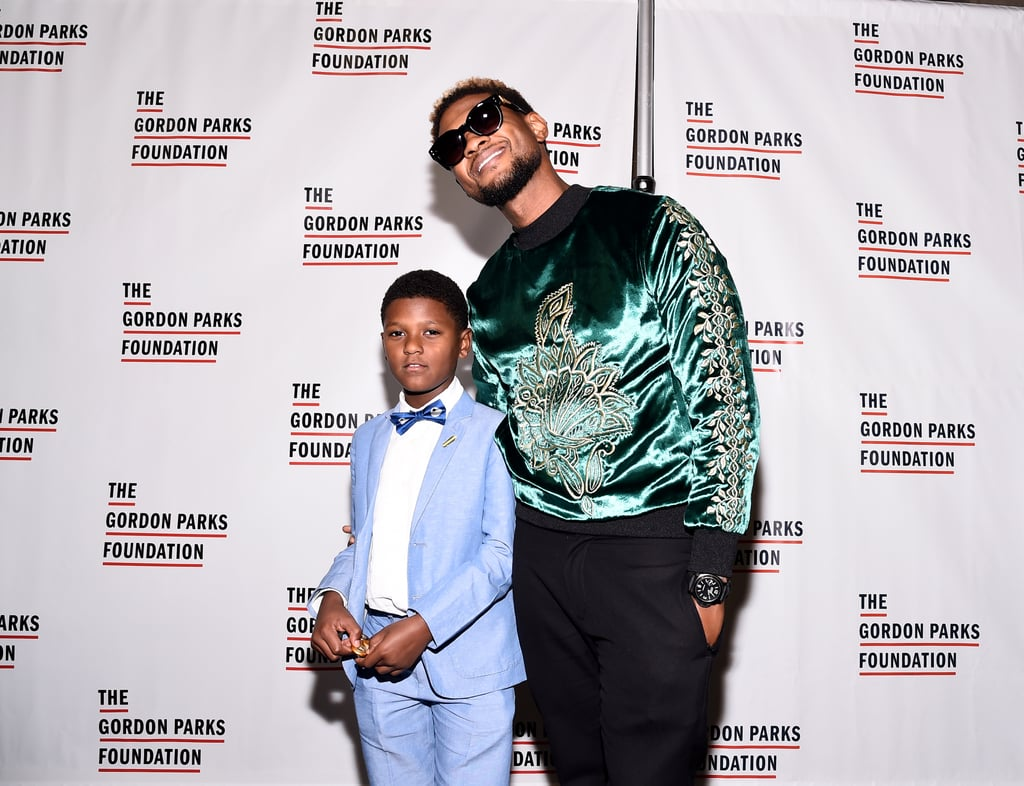 Usher and His Son at Gala in NYC June 2017
