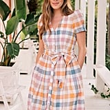 Gal Meets Glam Collection Poppy Button-Down Shirtdress