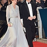 The couple were radiant as they walked the red carpet at the October royal premiere of Spectre at the Royal Albert Hall in London.