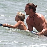 Gavin Rossdale gave Kingston Rossdale a push during a family visit to Palm Beach.