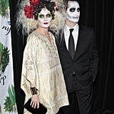 Debra Messing in Day of the Dead Costume